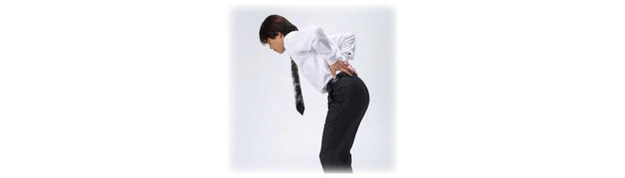 急性腰痛症(ギックリ腰)の解説画像